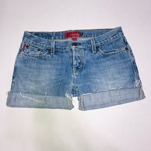 Hollister Cuffed Low Rise Shorts Size 5